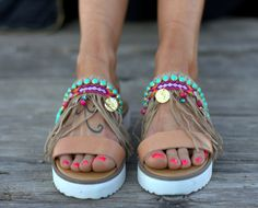 Boho Sandals Handmade Sandals Leather Sandals Sandals