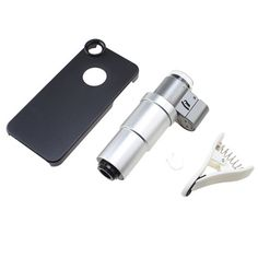 nice AGPtek® 200X Zoom Microscope Micro Lens with LED light for Cell Phone Mobile Phone Clip-on + Battery Box Opener + Case for iPhone 5S & 5  Description:  - Microscope helps us to watch tiny things what human eyes can' t do. Install this to mobile phone, can help us take photos as records i…