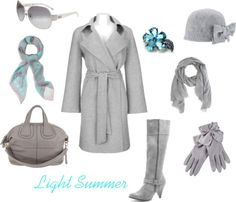"""""""Light Summer cold weather style"""" by enlightenedshopper on Polyvore"""