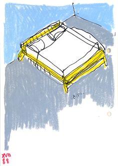 Antonio Scarponi, Altari Umili, sketch study, 2015. Tabula Rasa, White Pages, Clean Slate