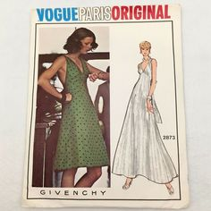 Pattern has been cut, verified complete with instructions - shelf wear to envelope. Vintage Vogue Patterns, Vogue Sewing Patterns, Skirt Pants, Jacket Dress, Christian Dior Dress, Sun Dresses, Miss Dress, Vogue Paris, Dress Patterns