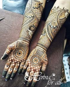 Full Hand Bridal Mehndi Design Mehandi Pinterest Mehndi