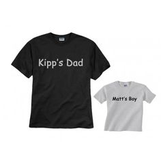 c50c65cd Custom father son t-shirts - personalized with names, nicknames, any text!