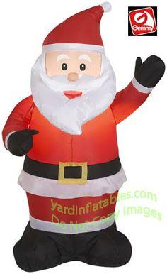4' Santa Waiving Left Hand