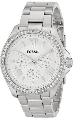 #Fossil Women's AM4481 Cecile Analog Display Analog Quartz Silver #Watch