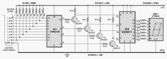 numeric water level indicator circuit diagram