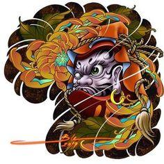 tattoos in japanese prints Japanese Tattoos For Men, Japanese Tattoo Art, Japanese Tattoo Designs, Japanese Sleeve Tattoos, Japanese Dragon Tattoos, Chest Piece Tattoos, Body Art Tattoos, Daruma Doll Tattoo, Japan Tattoo Design