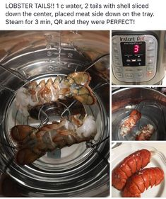 Lobster tail - instant pot