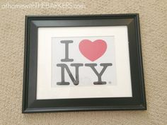 4,31715000This I Heart NY Artwork Tutorial is so easy, I almost could teach it to you with pictures only. But wait, I'm a blogger and I love words…So a few words will be in order This art is part of the gallery wall in my daughters newly made over room! {see it here} …