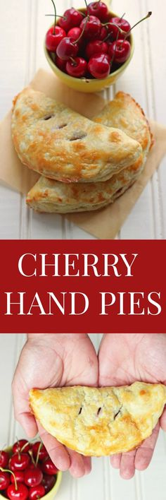 Mini hand pies made with fresh cherries! A cherry pie recipe made with fresh cherries can't be beat for 4th of July pie dessert! @DessertForTwo