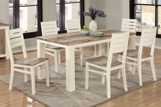 Sundance Two-Tone Table with 6 Side Chairs from Gardner-White Furniture