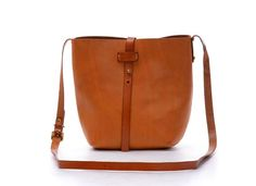 Women Retro Simple Orange/Black Genuine Leather Crossbody Bag,Bucket Bag,Shoulder Satchels,Ipad Purse,Messenger,Ladies Handbag and Wallets
