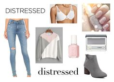 """""""Distressed Jeans Contest"""" by ahsoka-star-wars ❤ liked on Polyvore featuring Hudson Jeans, Wacoal, Clinique and Essie"""