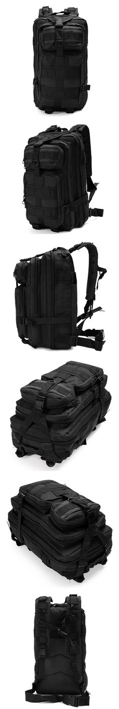 The 30L Outdoor Military Tactical Camping Hiking Trekking Backpack Rucksack fills multiple roles, from a tactical assault pack to a camping or hunting backpack. It features a spacious main compartment with various zip pockets, providing a wide range of storage options. It also offers straps and rings around the backpack for add-on pouches and accessories. Adjustable shoulder, chest and waist straps provide best comfort while ensuring stability. 600D nylon fabric is tough enough to resist…