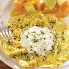 This Italian-style omelet is delicious with just about any herb combination; try parsley, dill, chervil or marjoram.
