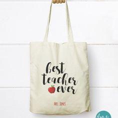 Best Teacher Ever - Canvas Tote Bag, Canvas Tote bag