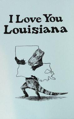 I Love You Louisiana Poster (SC)
