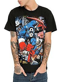 HOTTOPIC.COM - Marvel Captain America Comic T-Shirt