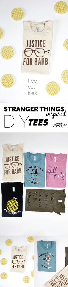 Stranger Things Inspired Tees + cut files | Stranger Things Inspired DIY Tees | stranger things tees | diy tshirt ideas | fun tshirt designs | DIY tshirt ideas | stranger things shirt | free cut files || See Kate Sew #diytshirt #strangerthings #funtee