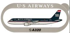 US Airways A320 Sticker