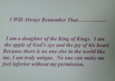 I am a daughter of the King of Kings<3