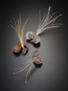 """Jane Bowden- AUSTRALIA   Woven Rings, 2008; 18k pink and yellow gold. Photo: Grant Hancock  """"My passion is for hand making, and traditional jewellery techniques"""""""