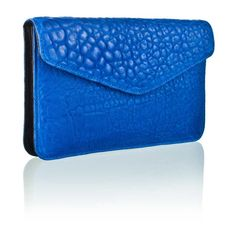 Camille Zarsky - Crete Clutch - Royal Blue Lambskin Leather - $250