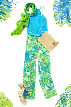Lilly Pulitzer Bianca Palazzo Pant Look