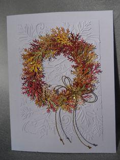 Find more information on Homemade Cards Autumn Wreaths, Wreath Fall, Tulle Wreath, Burlap Wreaths, Spring Wreaths, Summer Wreath, Holiday Wreaths, Holiday Cards, Christmas Cards