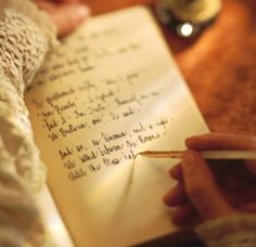 writing in your journal...