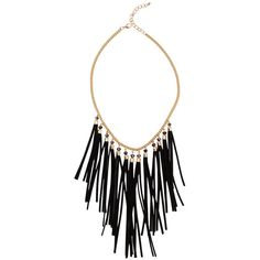 AKIRA Sweep Love Of Mine Tassel Fringe Necklace & Earring Set - Black ($14) ❤ liked on Polyvore featuring jewelry, necklaces, beading necklaces, chain link necklace, fringe necklace, fringe jewelry and tassel necklace