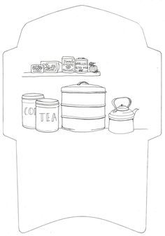 Make this colouring template into a postable envelope (the address goes on the big bread tin)