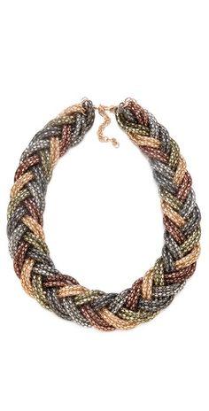 Bop Bijoux Braided Weave Necklace