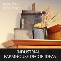 To go above kitchen cabinets - industrial farmhouse decor ideas: Rustic Crafts & Chic Decor