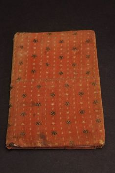1856 red calico cloth covered book pieced covers (item #1373806, detailed views)