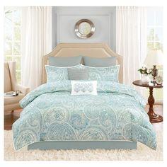 Kashmir 8 Piece Distressed Paisley Comforter Set
