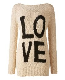 """Simply Be """"LOVE"""" Jumper Women's Plus Size Sweater, $60 via SimplyBe.Com (View #2 of 2)"""