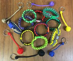 Paracord bracelets and keychains, made by my grandson! Operation Christmas Child, Paracord Bracelets, Kids Christmas, Charity, Crochet Earrings, Keychains, Jewelry, Key Hangers, Key Fobs