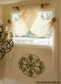 Fantastic Swag Curtains For Bedroom Inspiration with Best 20 Window Scarf Ideas … – Bedroom Inspirations Rideaux Design, Swag Curtains, Bedroom Curtains, Fringe Curtains, Scarf Valance, Layered Curtains, Burlap Curtains, Kids Curtains, Green Curtains