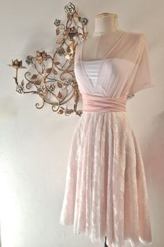 Pink Blush Swan Tulle and Lace Octopus Infinity by CoralieBeatrix. $189.99