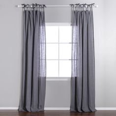 Pom Pom at Home Slate Linen Voile Tie Top Curtain Panel Tie Top Curtains, Voile Curtains, Panel Curtains, Shower Curtains, Modern House Facades, Grey Stuff, Country Curtains, Linens And Lace, Living Room Inspiration