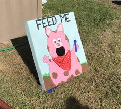 Feed The Cow And Pig Bean Bag Toss Game For Farm Theme