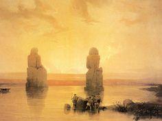 David Roberts painting of ancient Egypt