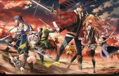Battling with friends. wallpaper from the legend of heroes: trails of cold steel ii Playstation, Trails Of Cold Steel, The Legend Of Heroes, Video Game Art, Illustrations, Anime Guys, Anime Art, Cartoon, Videogames