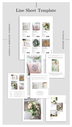 Price Guide/Line Sheet - CANVA & InDesign Format --- Price guides and line sheets are the best way to showcase your products and their prices. Recipe Book Templates, Email Templates, Design Templates, Product Catalog Template, Catalog Design, Press Kit, Media Kit, Price Guide, Magazine Template