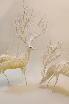 Ellen Jewett: In Memory of Everything Beautiful & Impermanent (cold porcelain/paper clay sculptures)
