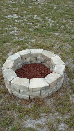 Do it yourself fire pit. Easy & Cheap.