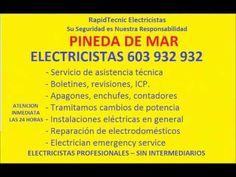 Electricistas PINEDA DE MAR 603 932 932 Baratos