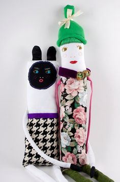 Fabric / Cloth Handmade Soft Sculpture Doll - DoubleFoxStudio