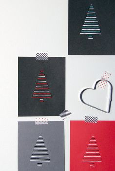 DIY Christmas cards with string